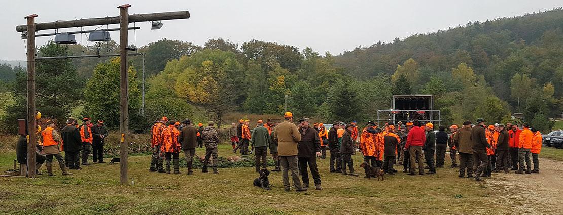 Jagen in Duitsland tijdens een drukjacht